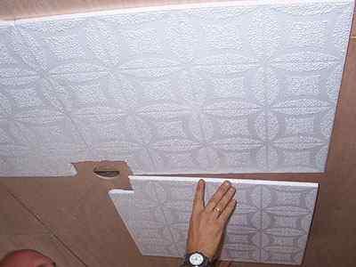 Потолки из пенополистирольных плит